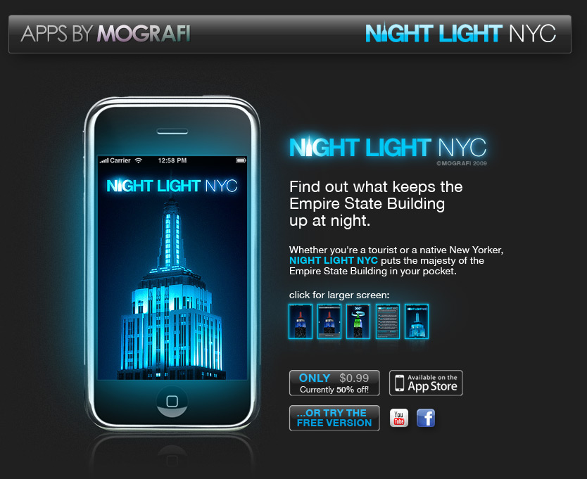 NIGHT LIGHT NYC   MOGRAFI   IPHONE APPS